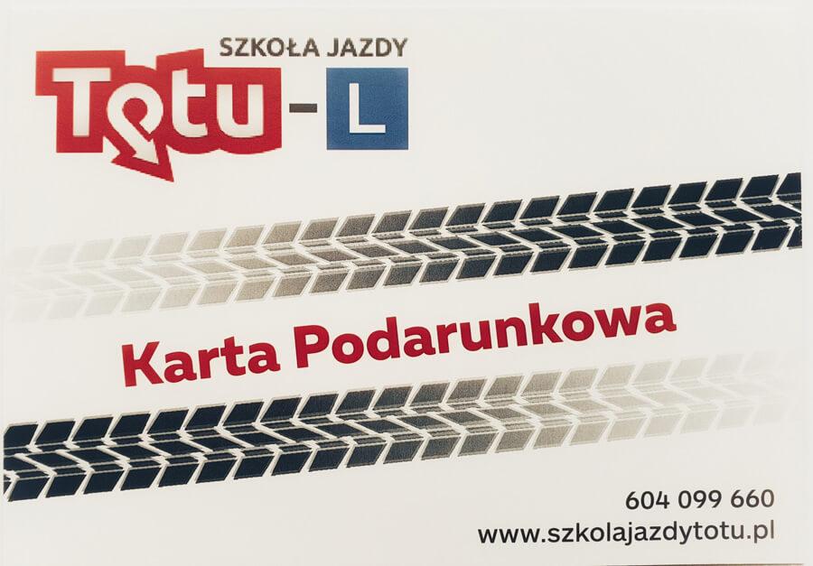 Karta podarunkowa szkoła jazdy To Tu Warszawa